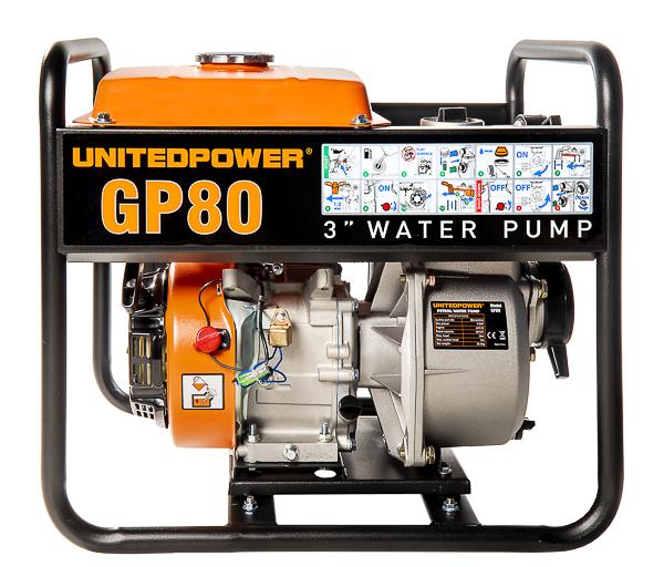 Motopompa auto adescante United Power Gp80